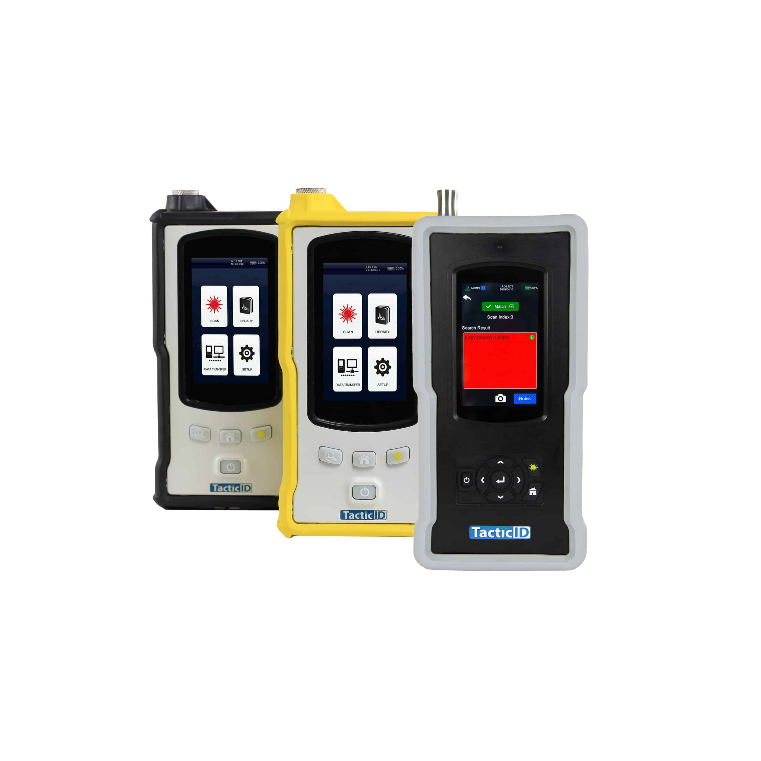 Handheld Raman analyzer for explosives, hazardous and chemical materials